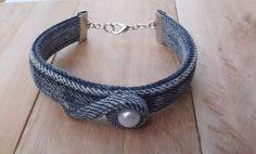 Washer Necklace, Crochet Necklace, Bracelets, Jewelry, Jeans, Fashion, Bangle Bracelets, Moda, Jewlery