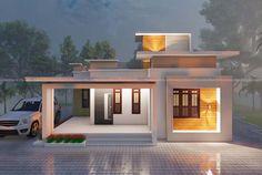 Simple House Exterior Design, House Balcony Design, Single Floor House Design, 3 Storey House Design, House Outside Design, Kerala House Design, Bungalow House Design, Small House Design, Modern House Design
