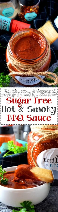 Sugar Free Hot and Smoky Barbeque Sauce - A good barbeque sauce needs to be smoky, it needs to be hot and spicy, it needs to be thick, and have a deep, rich red colour. My homemade barbeque sauce is all of that and more; it's also sugar free! Homemade Barbeque Sauce, Homemade Sauce, Lord Byron, Frugal Meals, Easy Meals, Frugal Recipes, Good Food, Yummy Food, Delicious Recipes