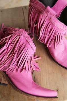 FRINGE SHORTIE BOOT - LIPSTICK - Junk GYpSy co.