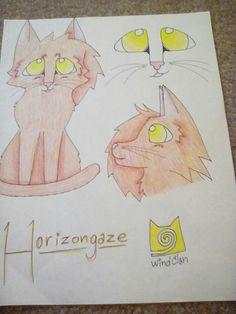 Horizongaze of WindClan's reference. Art by SageCat