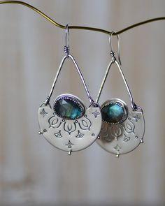 """13 x 18 mm Cut Labradorite Hook Earrings 1.5/"""" Sterling Silver Women Jewelry"""