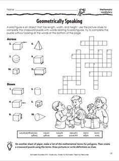 Worksheet Geometry Fun Worksheets definitions student and the words on pinterest geometrically speaking crossword puzzle