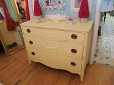 yellow dresser...pretty close to what is in Leila's room. The one she has is used as a dresser/changing table. Was purchased at the Fair Oaks Flea market in SF about 11 years ago.