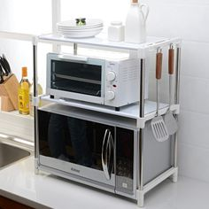 50 small kitchen ideas that will make you feel roomy 9 Related Kitchen Cabinets Decor, Home Decor Kitchen, Kitchen Interior, Home Kitchens, Kitchen Dining, Kitchen Ideas, Diy Kitchen Storage, Diy Storage, Appartement Design Studio
