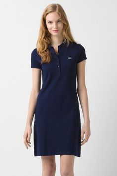 Lacoste Short Sleeve Stretch Pique Classic Polo Dress   Dresses Vestido  Tipo Polo, Vestidos Polo 4f4c715ea3