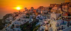 Amazing Sunset in Santorini