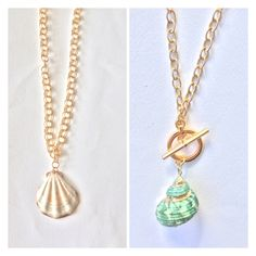 Gold Necklace, Pendant Necklace, Shell Necklaces, Jewelry, Jewellery Making, Jewerly, Jewelery, Gold Necklaces, Jewels