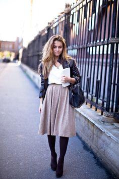 skirt + leather