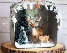 Rustic Christmas Decorations C liebenhristmas Diorama Christmas Mantle Woodland Christmas