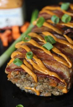 Topping this meatloaf with chipotle mayo, green onions, and bacon means every bite is bursting with flavor.