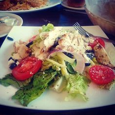 Lunch  Greek salad   #salad #greek #chicken #keto #lowcarb #ketosis #ketogenic by swaying_rhythm