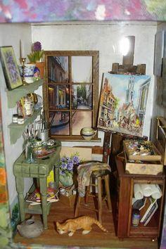 Mini artist studio - Connie Sauve - Miniature Show Photos - love this it is wonderful