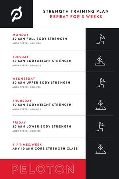 Completed Total Strength on the Peloton App? Keep leveling up with this suggested training plan from Andy Speer. Strength Training Workouts, Training Plan, Weight Training, Key To Losing Weight, Workout To Lose Weight Fast, How To Lose Weight Fast, Strength Program, Workout Schedule, Workout Plans