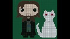 Jon Snow and Ghost  Game of Thrones pattern by SnowFallonSea