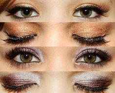 Hazel Eye Eyeshadow, copper and frosted purple