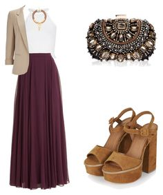 """""""Maxi skirt"""" by tania-alves ❤ liked on Polyvore featuring Halston Heritage, Topshop, River Island, Lipsy and Wallis"""