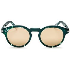 Marc Jacobs Mirrored Round Sunglasses, 48mm ($165) ❤ liked on Polyvore featuring accessories, eyewear, sunglasses, mirror glasses, mirrored glasses, mirrored sunglasses, marc jacobs eyewear and round frame glasses