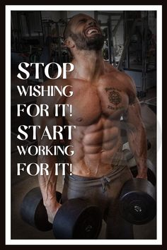 """Stop Wishing It! Start Working For It!"" Inspirational Wall Frames, Life Quotes Gym Wall Posters"