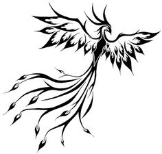 Tribal phoenix tattoo 8
