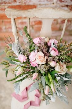romantic organic floral bouquet by Cote Designs | photo by Lauren Carnes Photography | styled by b is for bonnie design for the illume retreat | Enterprise Mill Events in Augusta, GA