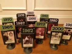 photo table numbers | An easy enough project, inspired by other pictures I've seen with ...