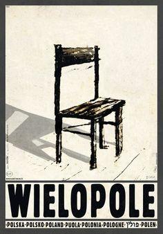 Polish poster by Ryszard Kaja, promoting Poland