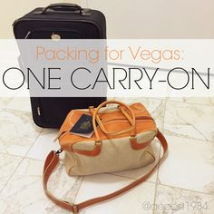 What to pack for Vegas | How to pack for Veags | Packing with just a carry-on | A.Co est. 1984