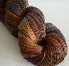 50/50 merino silk hand dyed laceweight yarn Autumns Robes 2 630yds approx ~ Artemis Artemis