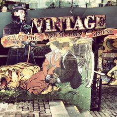My London weekend from the eyes of Instagram - Italian Bark #vintage sign at Camden market