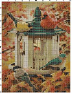 Cross Stitch Pattern Fall Visitors PDF by theelegantstitchery