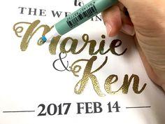 エンボス加工_作り方_ウェルカムボード_結婚式 Wedding Cards, Diy Wedding, Wedding Reception, Wedding Day, Wedding Welcome Board, Welcome Boards, Wedding Decorations, Writing, Crafts