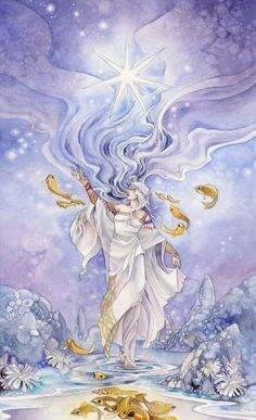 ✯ 17 - The Star Tarot: Regaining hope, faith in the future, inspiration, tranquility amid trouble, harmony, offering without reservations, sharing and being generous .. By ~Puimun✯