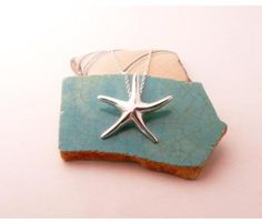 silver starfish necklace  (10% off code: JEWELRY10)