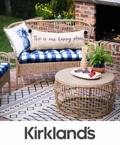 Tap the image to shop our outdoor collection and find your new favorite wicker furniture pieces! Metal Outdoor Bench, Outdoor Bar Stools, Outdoor Wicker Furniture, Outdoor Decor, Hammock Chair Stand, Wood Adirondack Chairs, Porch Decorating, Modern Farmhouse, Farmhouse Decor
