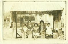 Items similar to Great Depression Skinny Family Sitting on Porch Swing Ethnic Women Kids Vintage Black and White Photo Photograph on Etsy