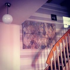 Dragon fly over stairs. art by Kristiina Haataja.  #art #interior