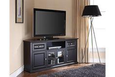 Corner tv cabinet ikea entertainment center for flat screen furniture Black Corner Tv Stand, Corner Tv Stands, Tv Cabinet Ikea, Ikea Entertainment Center, Large Screen Tvs, Flat Screen, Corner Tv Cabinets, Tv Stand Designs, Tv Decor