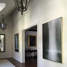 Monday mellow. Recent residential installation features a stunning pair of waterfall images by Christina Craemer. #art #photo #interior