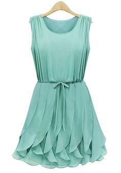 Tiered Ruffles Dress - Mint I like this!! Maybe for the wedding!