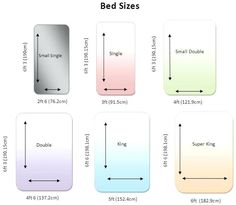 bed sizes us king bed size queen bed size single bed size creating my cottage pinterest. Black Bedroom Furniture Sets. Home Design Ideas