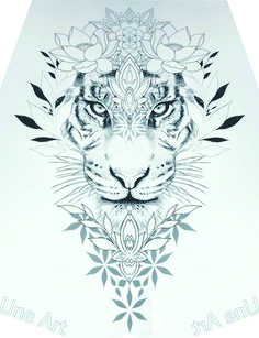 33 Simple Tattoo Ideas For First-Timers - Tatto Galery Tiger Tattoo Small, Tatoo Tiger, Tiger Tattoo Thigh, Tiger Tattoo Design, Cute Tattoos, Leg Tattoos, Body Art Tattoos, Small Tattoos, Detailliertes Tattoo