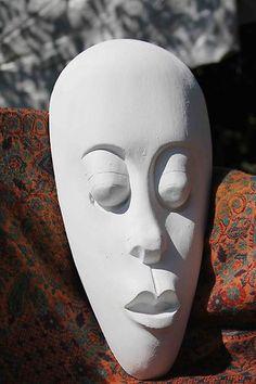 Lombok Maske - Steinguss Wanddekoration für Wohnung und Garten