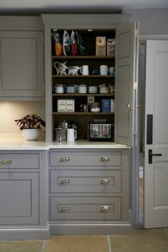New Kitchen Corner Pantry Baking Station Ideas Corner Pantry, Kitchen Corner, Kitchen Living, New Kitchen, Kitchen Ideas, Kitchen Decor, Small Kitchen Pantry, Larder Cupboard, Kitchen Cupboards