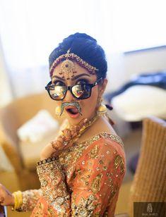 Indian wedding photography. Candid bridal photoshoot ideas. Photo by Bilal Bhatti