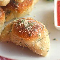 Pizza Balls and Garlic Parmesan Crescents