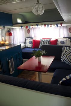 Awesome vintage camper . love the colors and fresh clean uncluttered feel