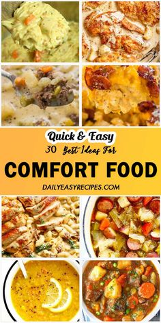 Your day will be incomplete without a comfort food. When you're overload with papers, a comfort food served at lunch enables you to stay energized for hours. When you're constantly tired after work (or school), a comfort food will Slow Cooker Recipes, Beef Recipes, Cooking Recipes, Recipies, Fast Dinners, Easy Meals, Easy Cooking, Healthy Cooking, Comfort Foods