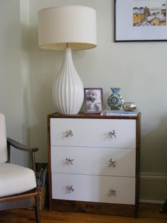 ikea rast hack with coral/branch looking knobs!