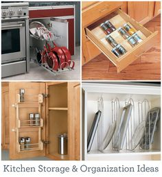 Make the most of your kitchen space with these storage solutions and organization ideas.
